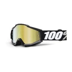 Ochelari 100% ACCURI TORNADO Mirror Gold - negru/alb