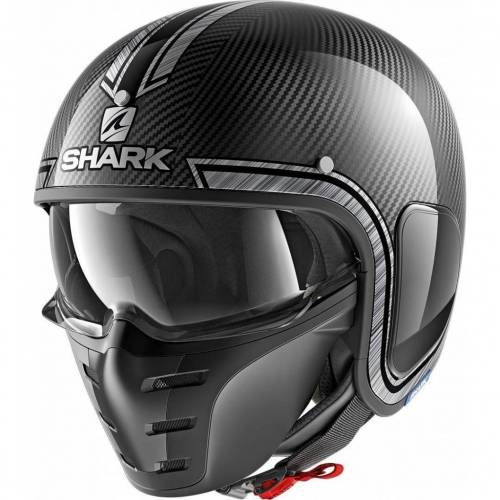 Cască Moto Open Face SHARK S-DRAK CARBON VINTA · Negru / Gri