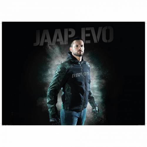 Geacă Moto din Textil BERING JAAP EVO · Negru / Verde
