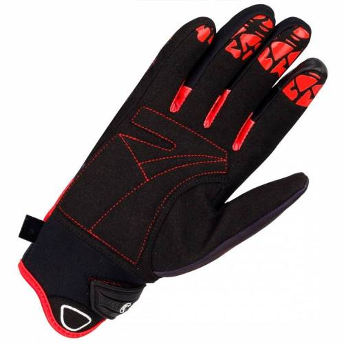 Mănuși Moto Damă din Textil BERING LADY GRISSOM · Negru / Roșu