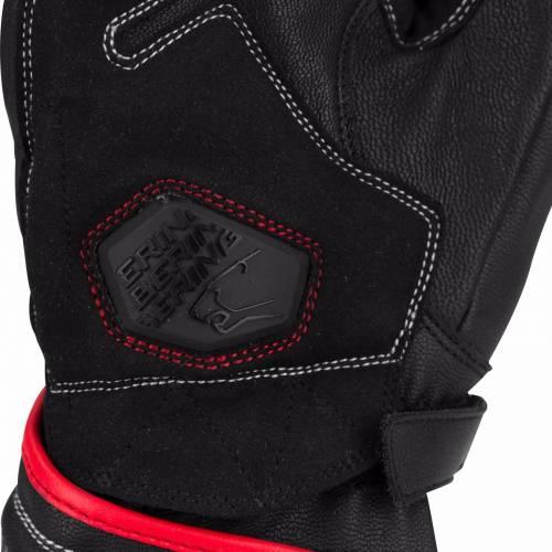 Mănuși Moto din Piele BERING RUN-R · Negru / Roșu