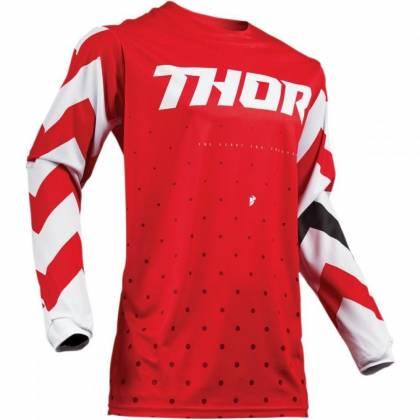 Tricou Thor Pulse Stunner S9 - alb/roșu