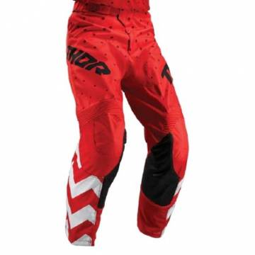 Pantaloni THOR PULSE STUNNER S9 - Roșu/Alb