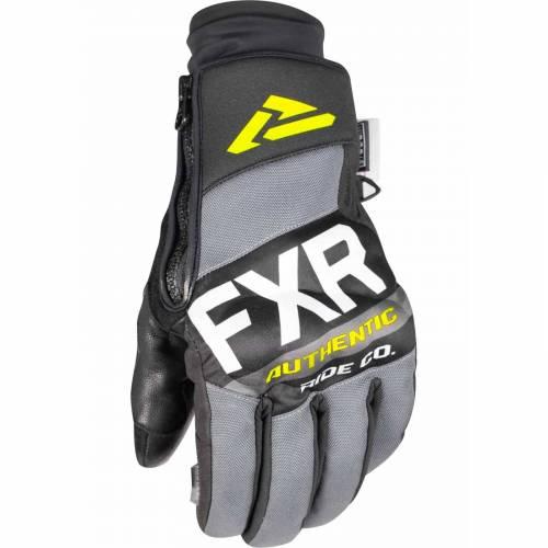 Mănuși Snowmobil - FXR PRO-TECH · Negru / Gri / Verde-Fluo