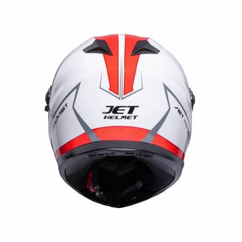Cască Moto Integrală JET FIGHTER SV Mont · Alb / Roșu