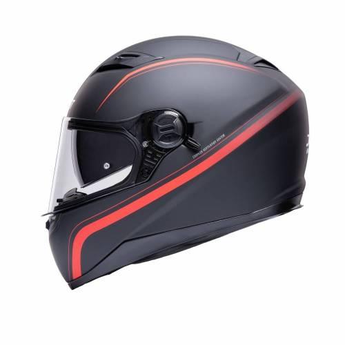 Cască Moto Integrală JET FIGHTER SV Stripe · Negru / Roșu Mat