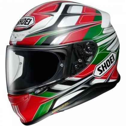 Cască Moto Integrală SHOEI NXR Stab TC-8 · Negru / Portocaliu / Albastru / Verde