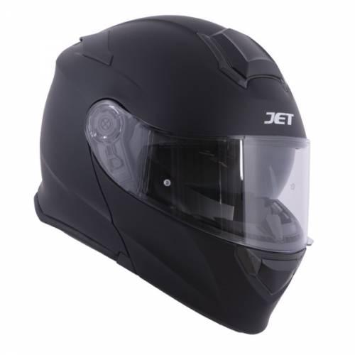 Cască Moto Flip-Up JET RUMBLE · Negru Mat