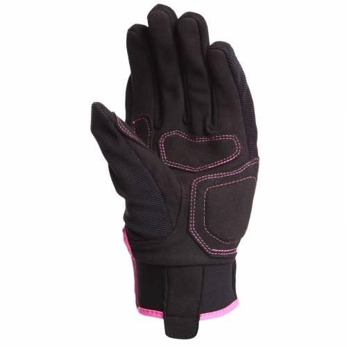 Mănuși Moto Damă din Textil BERING LADY FLETCHER · Negru / Roz