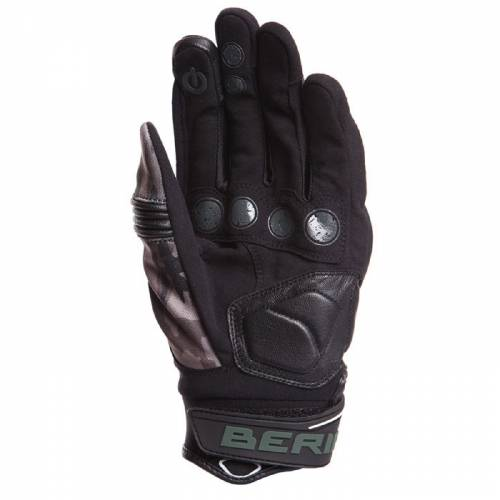 Mănuși Moto din Piele & Textil BERING DERECK · Negru