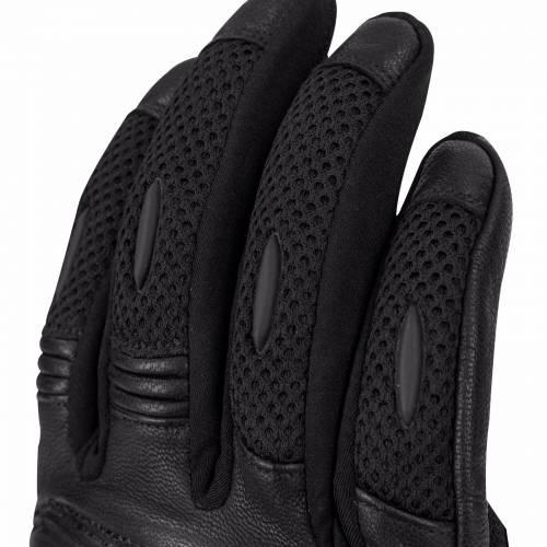 Mănuși Moto din Piele & Textil BERING KX-ONE · Negru
