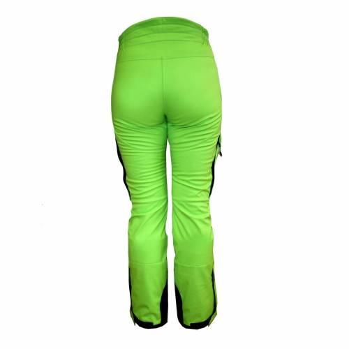 Pantaloni Outdoor / Schi Softshell Damă STRINDBERG 5072/8, Toraydelfy · Verde-Fluo / Negru
