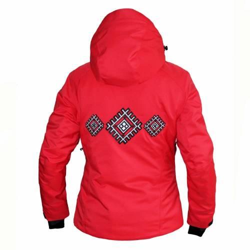 Geacă Outdoor / Schi Damă cu Motive STRINDBERG 5047D, Dermizax · Roșu / Negru