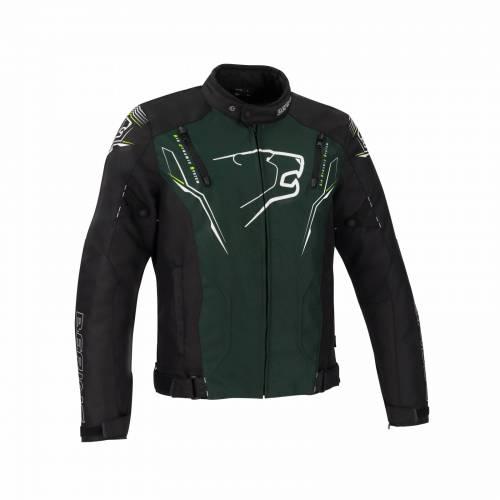 Geacă Moto din Textil BERING TIBERIUS · Negru / Verde