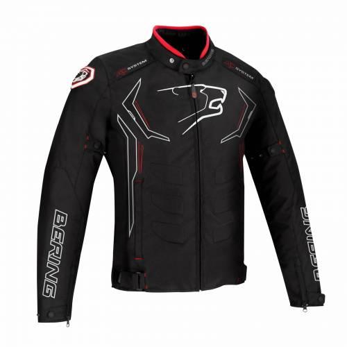 Geacă Moto din Textil BERING GUARDIAN · Negru / Alb / Roșu
