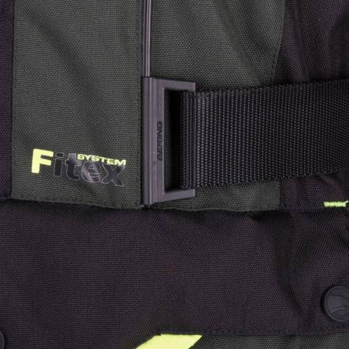 Geacă Moto din Textil BERING DARKO · Verde / Negru