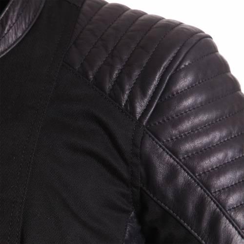 Geacă Moto Damă din Piele & Textil BERING LADY ROSITA · Negru