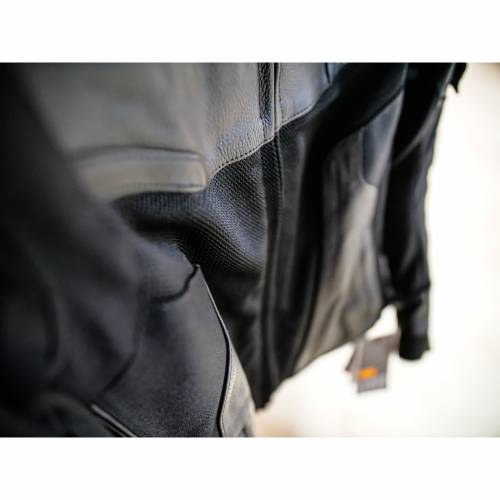Geacă Moto Damă din Piele & Textil SIXGEAR ALISA · Negru