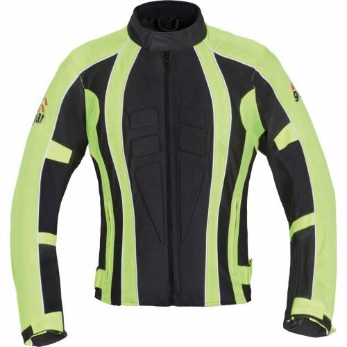 Geacă Moto din Textil SIXGEAR POLICE · Negru / Verde-Fluo