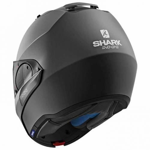 Cască Moto Modulară SHARK EVO-ONE 2 BLANK · Negru Mat
