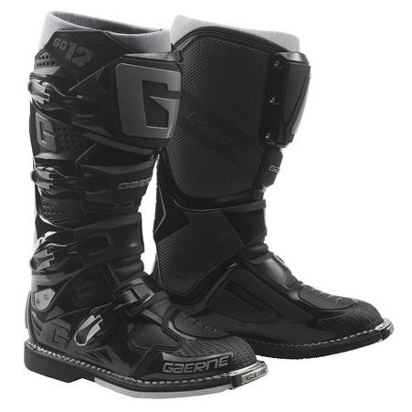 Cizme Moto din Piele & Textil GAERNE SG12 · Negru