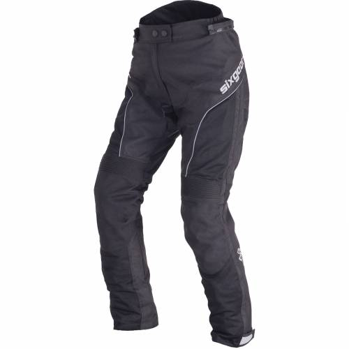 Pantaloni Moto Damă din Textil SIXGEAR LUNA · Negru