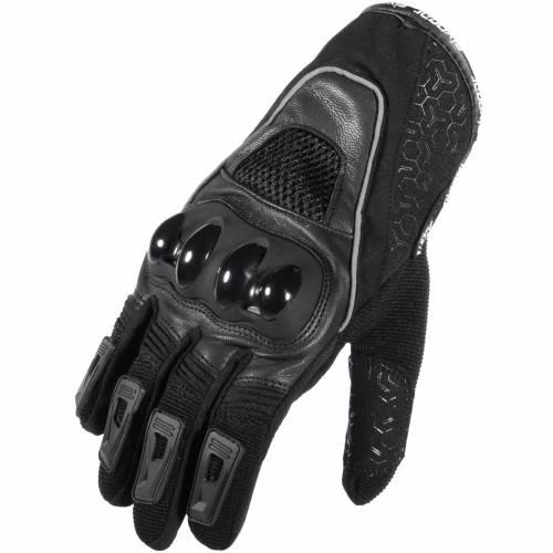 Mănuși Moto din Piele & Textil SIXGEAR NEXT · Negru / Gri