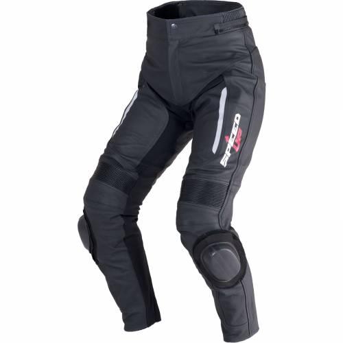 Pantaloni Moto din Piele & Textil SPEED UP TRIP · Negru