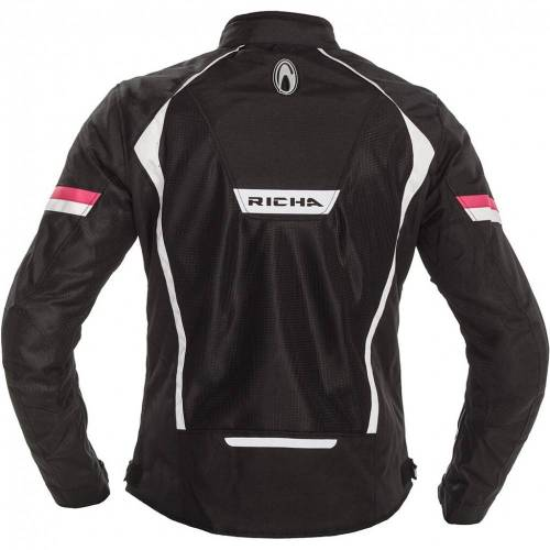 Geacă Moto Damă din Textil RICHA AIRBENDER LADY · Negru / Roz / Alb