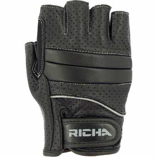 Mănuși Moto din Piele Perforată RICHA MITAINE · Negru