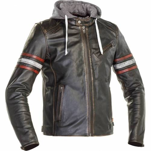 Geacă Moto din Piele & Textil RICHA TOULON 2 · Negru / Roșu / Gri