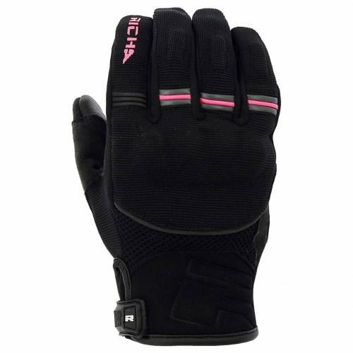 Mănuși Moto Damă din Piele & Textil RICHA SCOPE · Negru / Roz