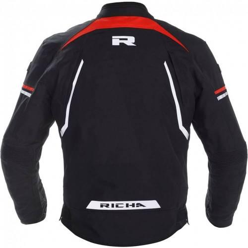 Geacă Moto din Textil RICHA GOTHAM 2 · Negru / Alb / Roșu