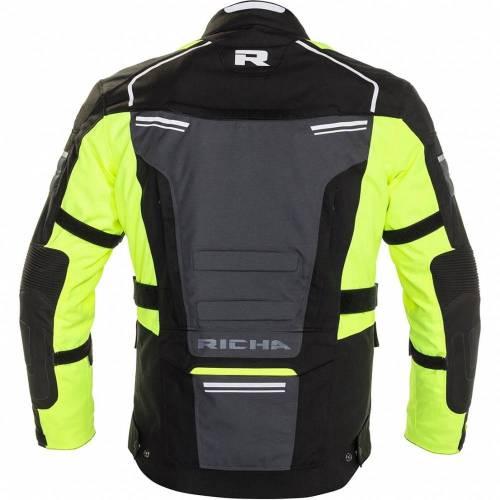 Geacă Moto din Textil RICHA TOUAREG 2 · Negru / Verde-fluo