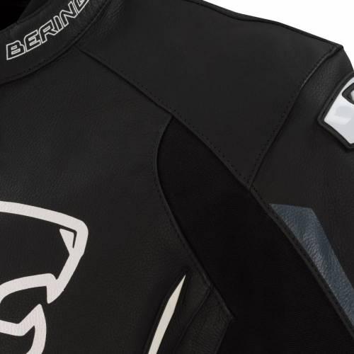 Geacă Moto din Piele & Textil BERING STATOR · Negru