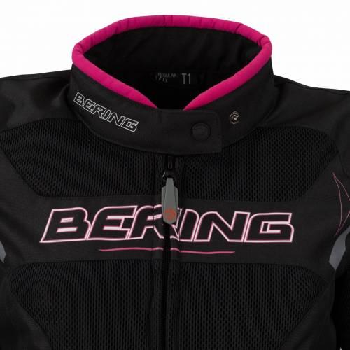 Geacă Moto Damă din Textil BERING LADY MISTRAL · Negru / Roz