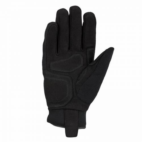 Mănuși Moto Damă din Piele & Textil BERING LADY BORNEO · Negru