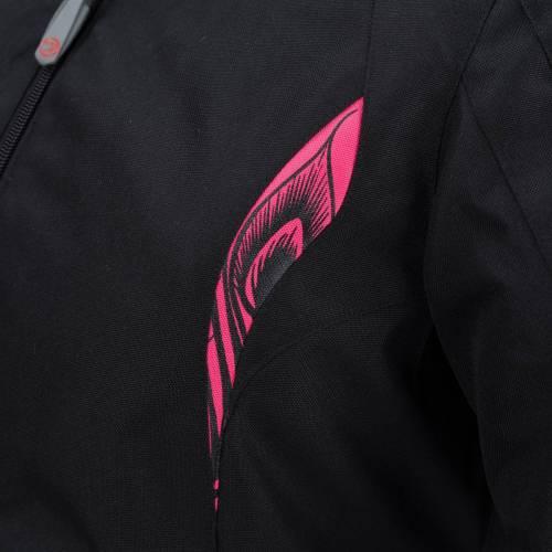 Geacă Moto Damă din Textil BERING LADY VIRGINIA · Negru / Roz
