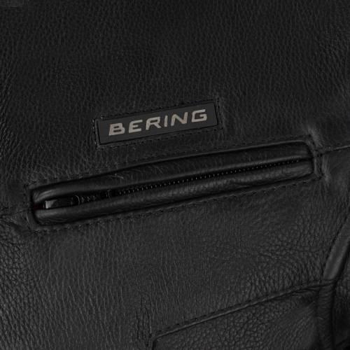 Geacă Moto din Piele BERING GRINGO · Negru
