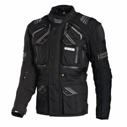 Geacă Moto din Textil RICHA TOUAREG · Alb / Maro / Negru