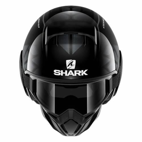 Cască Moto Open Face SHARK STREET DRAK HUROK · Negru / Gri