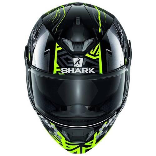 Cască Moto Integrală SHARK SKWAL 2.2 NOXXYS · Negru / Gri / Verde-fluo