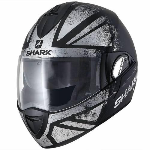 Cască Moto Modulară SHARK EVOLINE S3 TIXIER · Negru / Gri