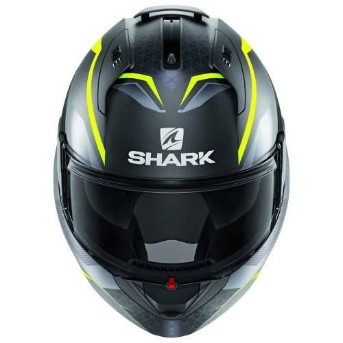 Cască Moto Modulară SHARK EVO ES YARI · Gri / Verde Fluo Mat