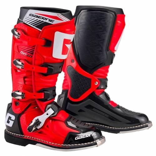 Cizme Moto din Piele & Textil GAERNE SG10 · Roșu